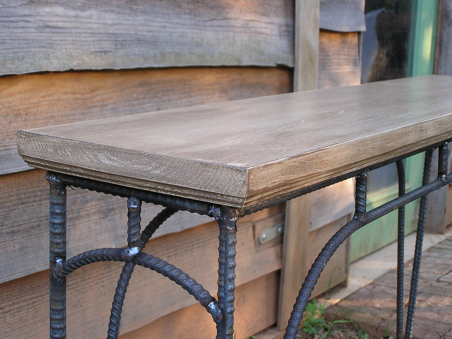 Custom industrial coffee table sofa table side table by soulseeds - Sectional ideas contemporary kitchen table ...