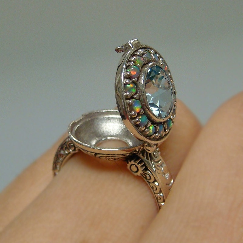Victorian Silver Poison Rings