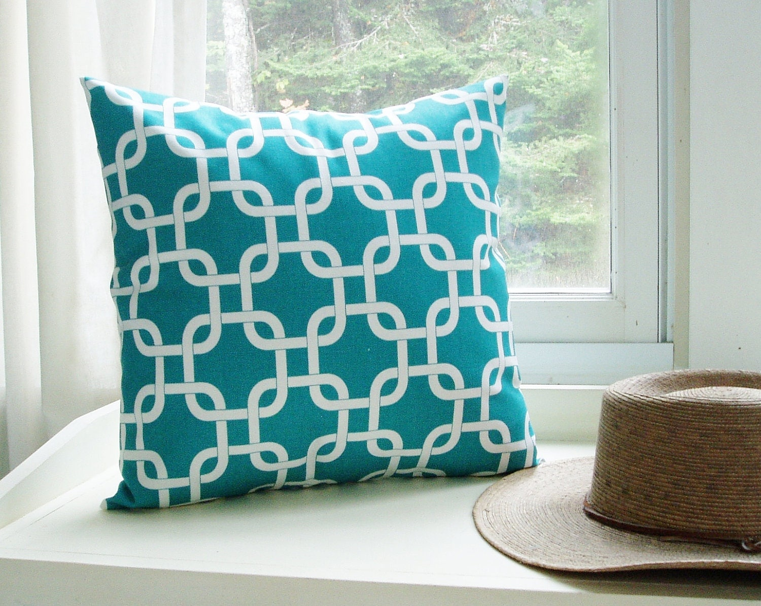 items similar to turquoise pillow cover decorative couch
