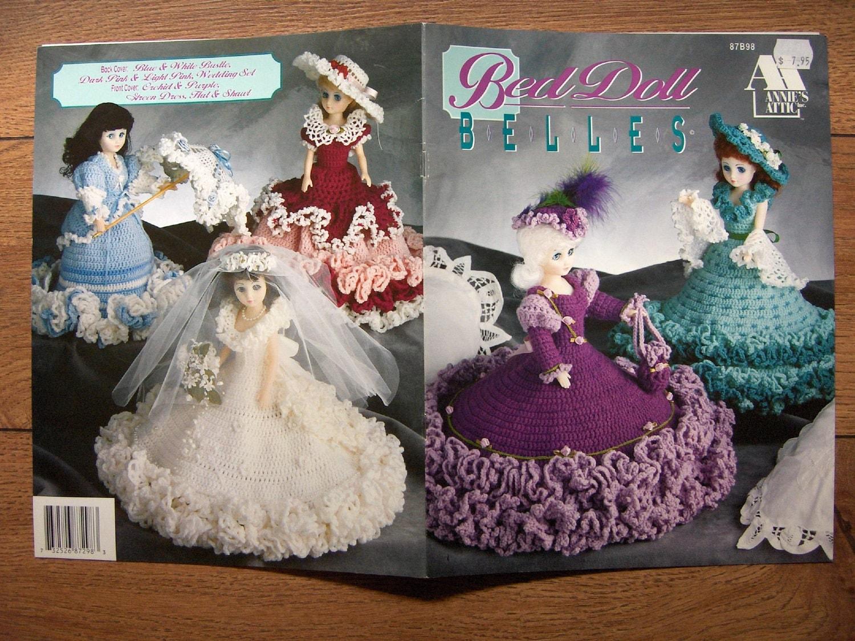 Vintage 1992 crochet pattern bed doll belles by granstreasures