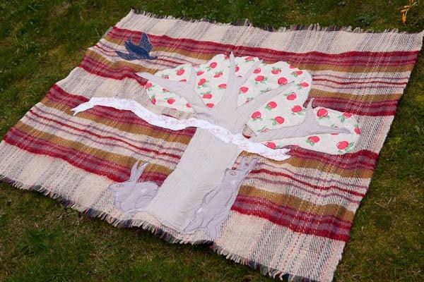 Apple Tree picnic blanket