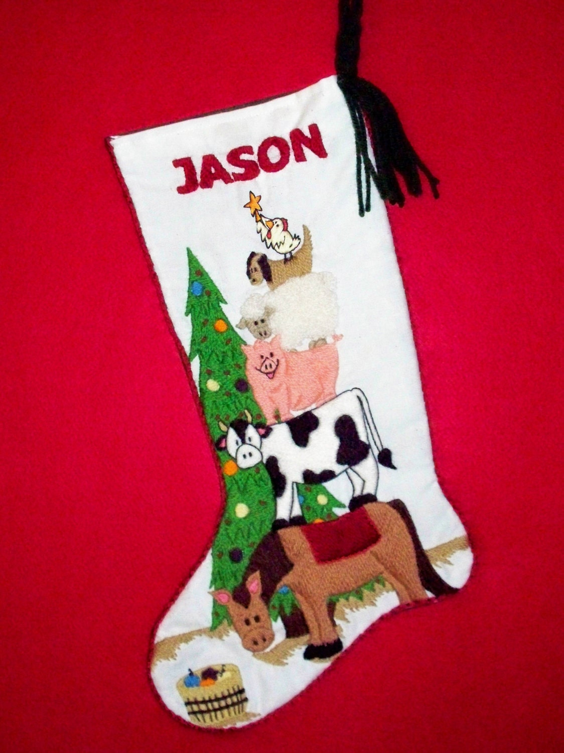 Crewel Embroidery Christmas Stocking Kit Fun By