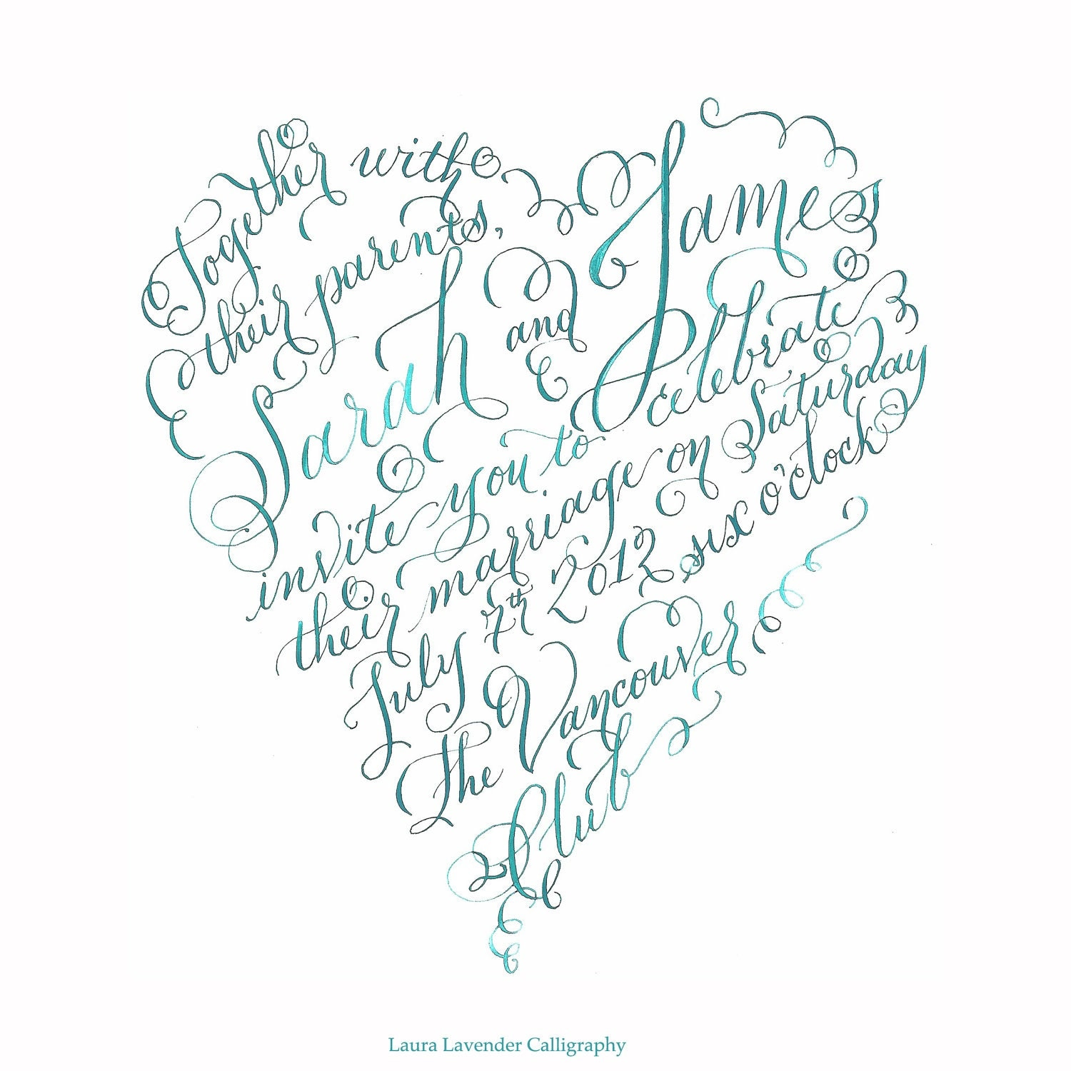 I heart calligraphy by lavendercalligraphy