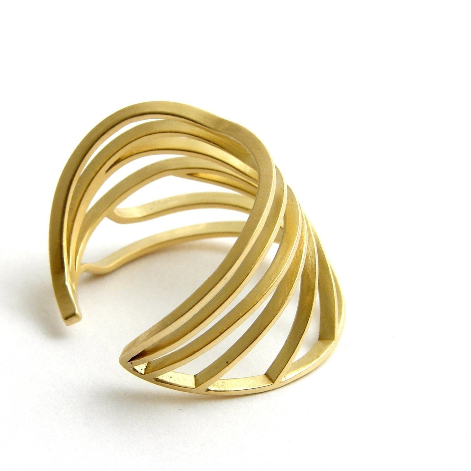 Dragonfly Wing Ring 18kt Gold