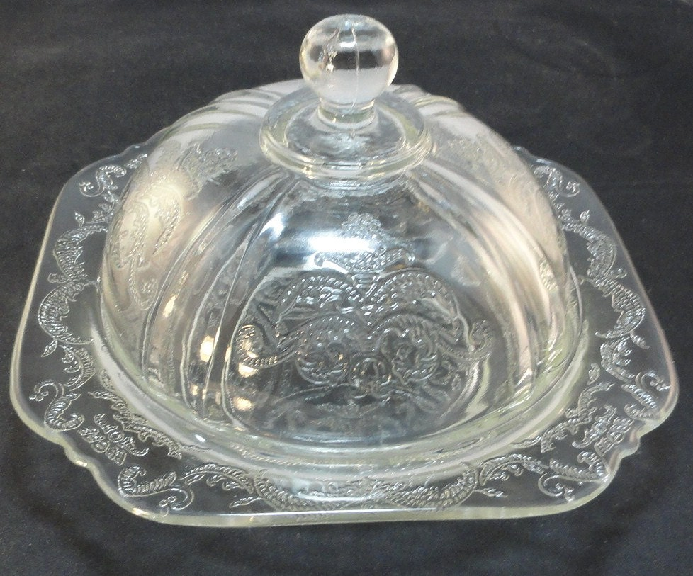 Depression glass federal madrid pattern clear by amyjosattic for Most valuable depression glass patterns