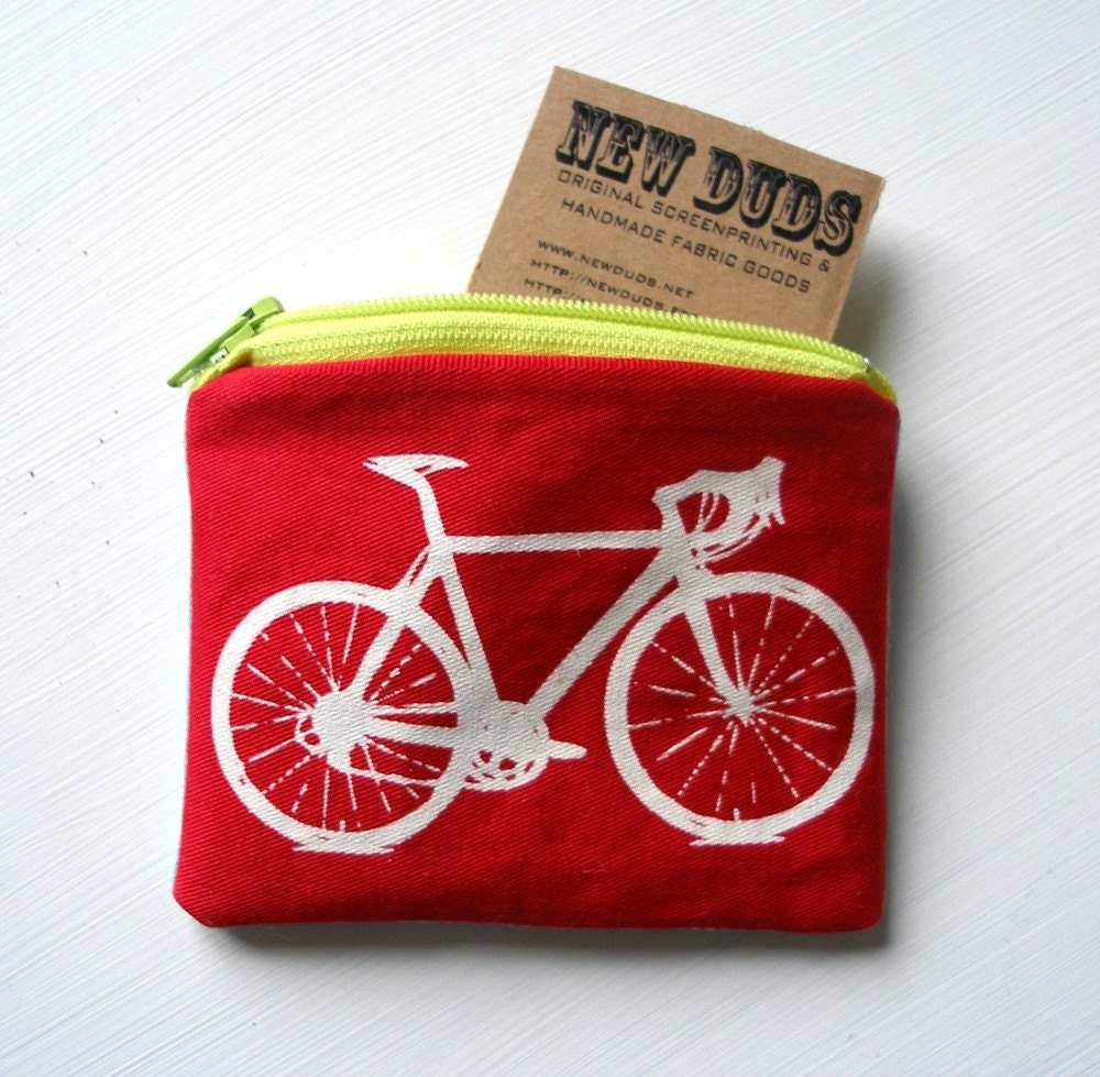 This lil bag is the perfect size for bus fare, and it would be hard to lose!