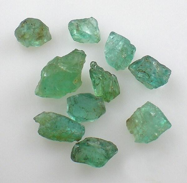 teal green apatite gemstones by milminedesignannex