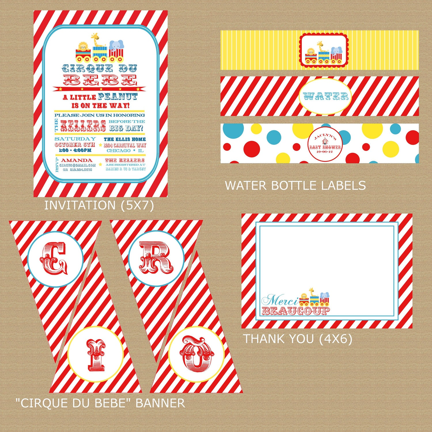 similar to circus baby shower package printable carnival or circus