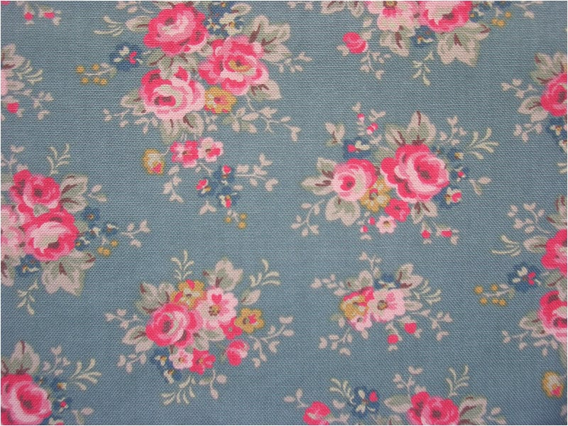2311 - Cath Kidston Bunch Flowers ( Pale Blue) Cotton Canvas Fabric ...