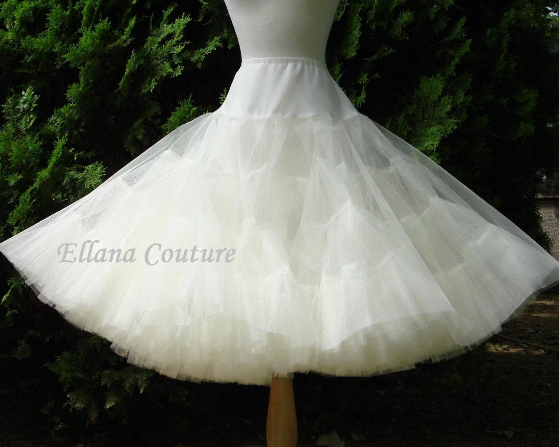 Tea length crinoline mega fullness petticoat available in several