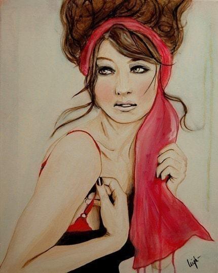 Cherry Blossom Girl- Art Print