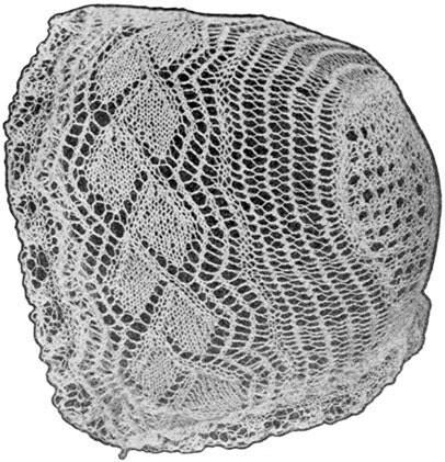 1922 Lace Baby Bonnet Antique Vintage Knitting Pattern PDF 045