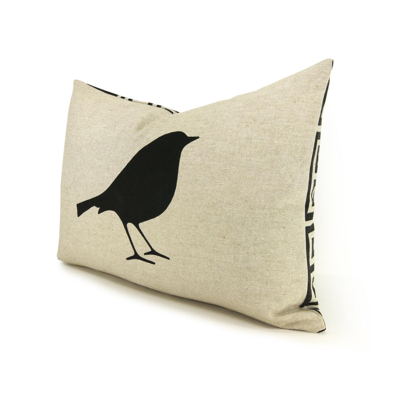 Decorative Pillow Cover 12x18 : 12x18 Lumbar Pillow Case Bird Pillow Cover by ClassicByNature