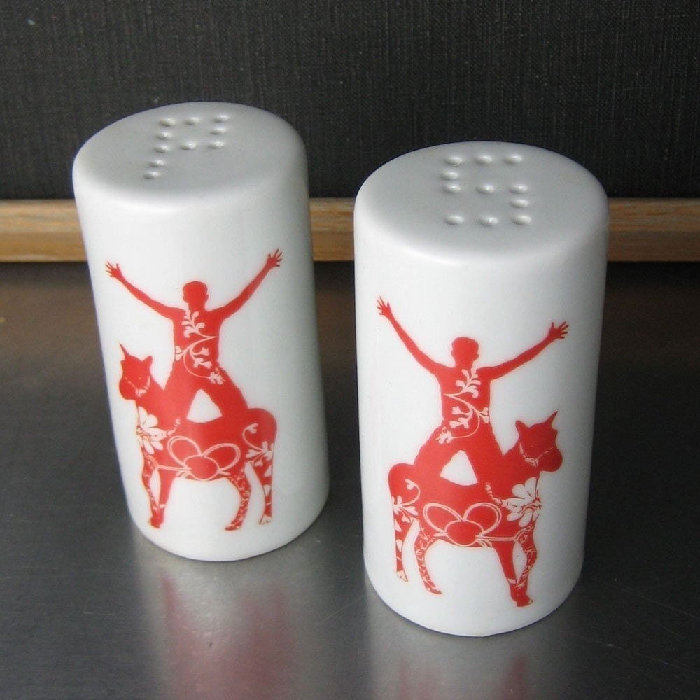 Circus Pony Salt and Pepper Shakers