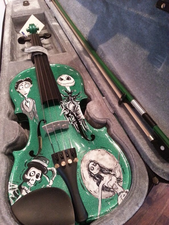... Burton Inspired Corpse Bride Nightmare Before Christmas Violin on Etsy