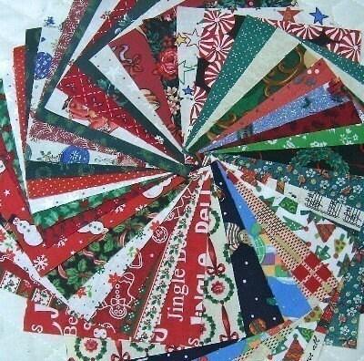 Christmas Quilt  Fabric Squares  Charm Squares Christmas Quilt Fabrics - SEW FUN QUILTS Time Saver Quilt Kit -