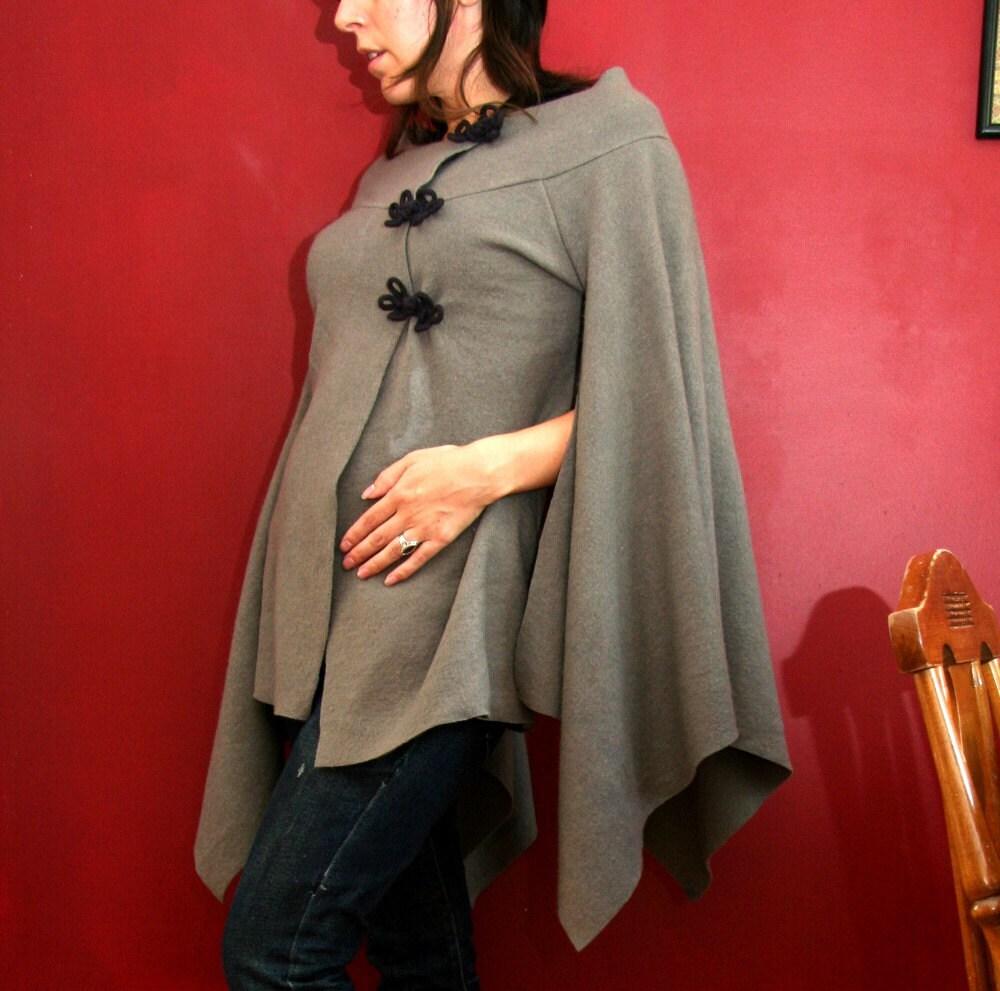 handkerchief sleeve coat