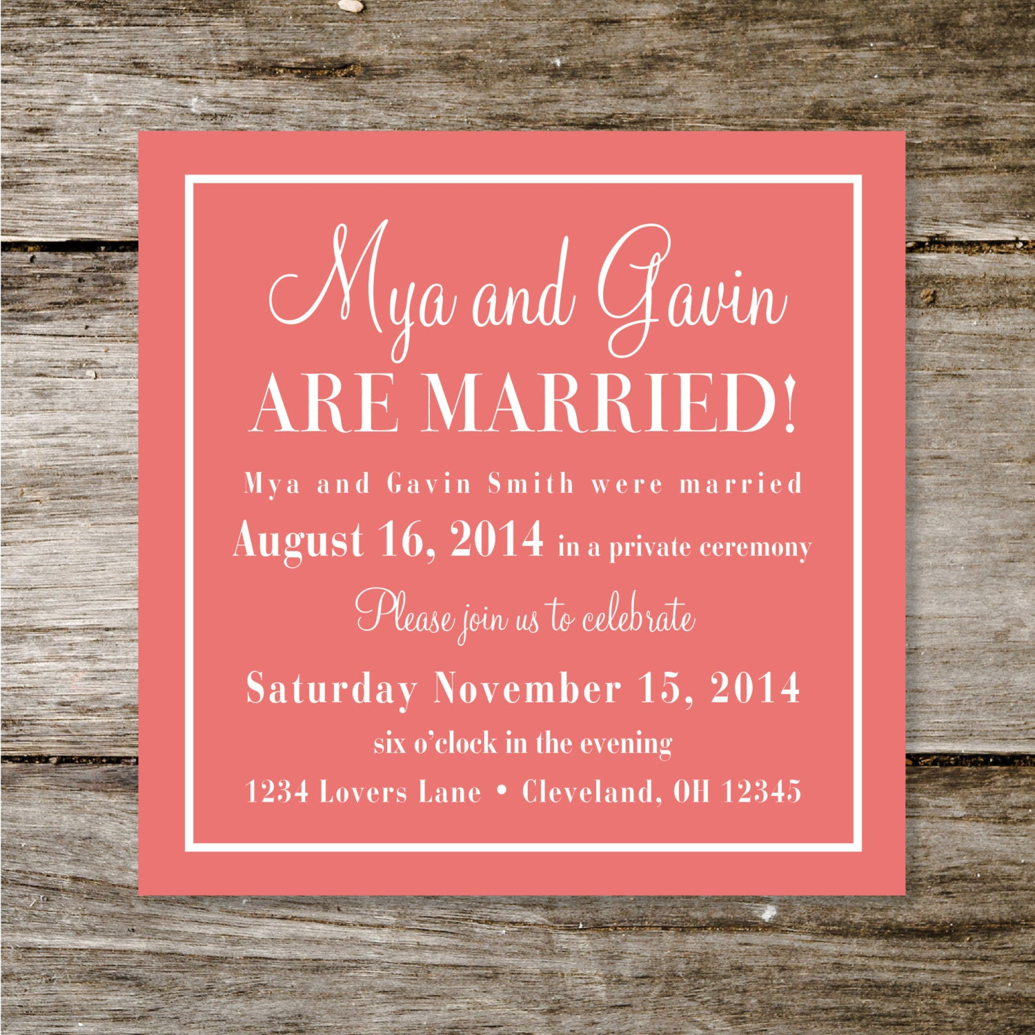 Check Yes or No Wedding Announcement/Reception Invite by ...