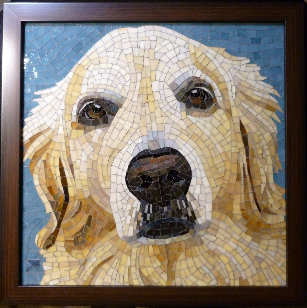 Items similar to custom stained glass mosaic pet portrait for Art sites like etsy