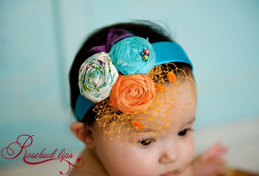 Nanette Rosebud Headband- Perfect for Spring pictures