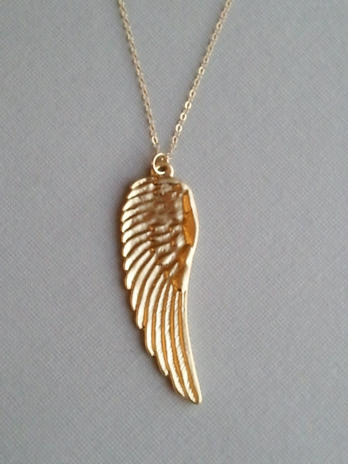 Rose Gold Guardian Angel Necklace