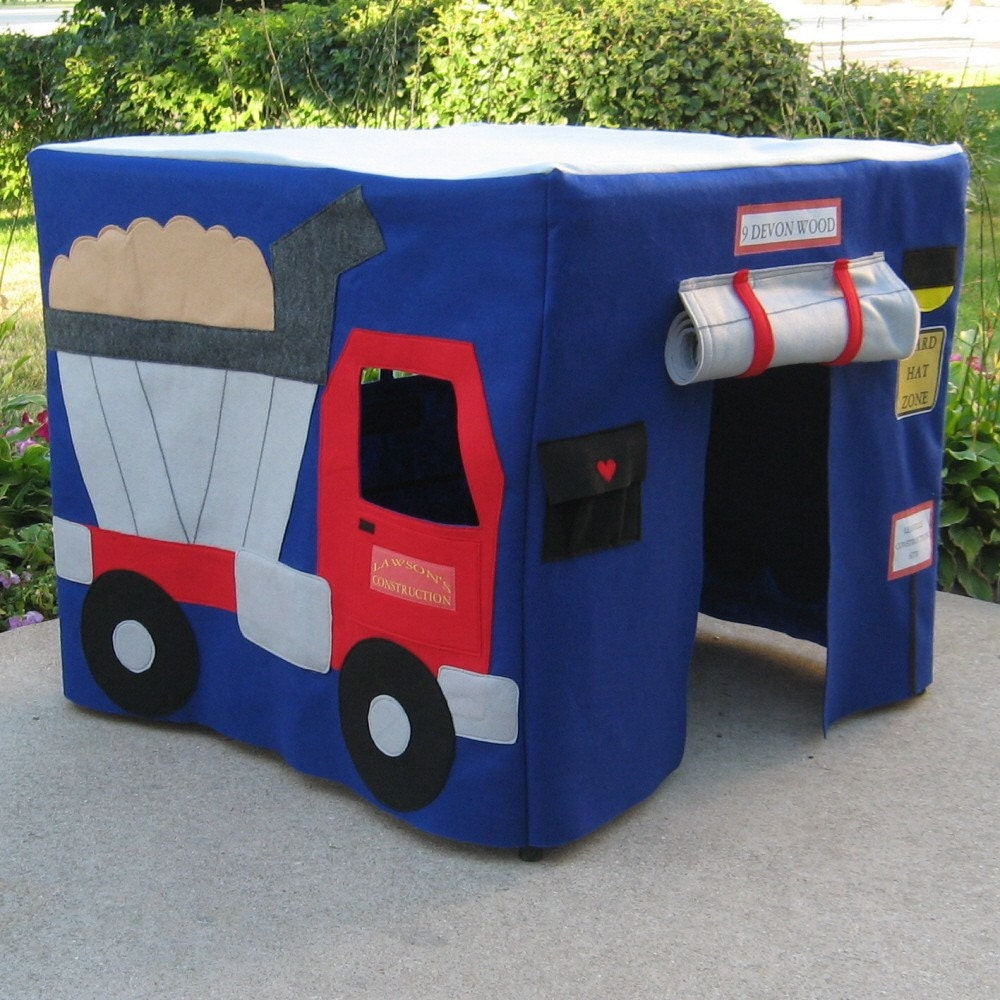 Construction Site Card Table Playhouse,  Personalized, Custom Order