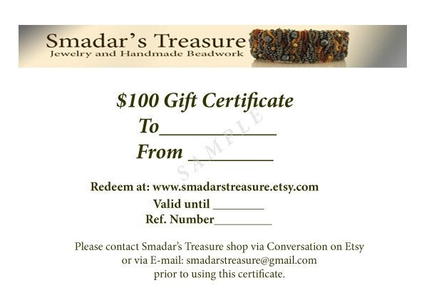 100 USD Gift Certificate by Email
