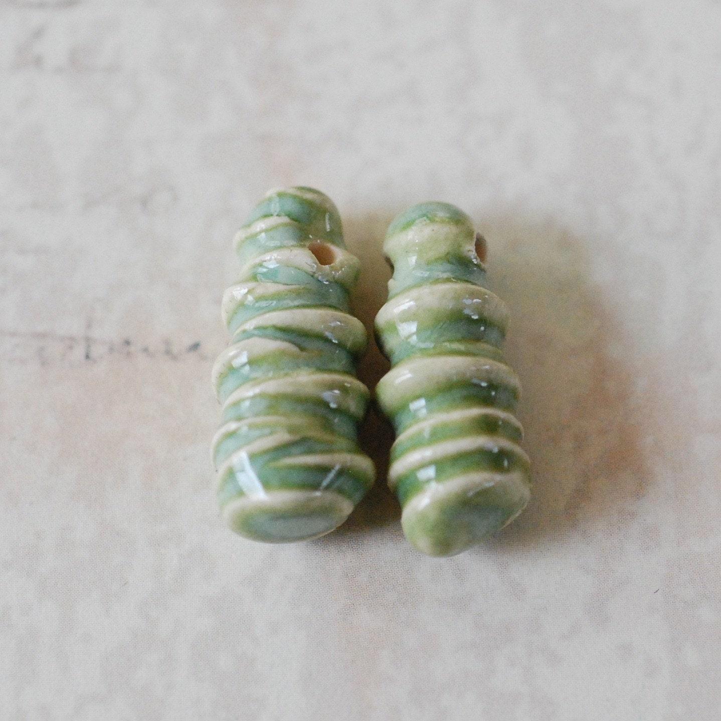 Porcelain Shards in Fern Green Glaze