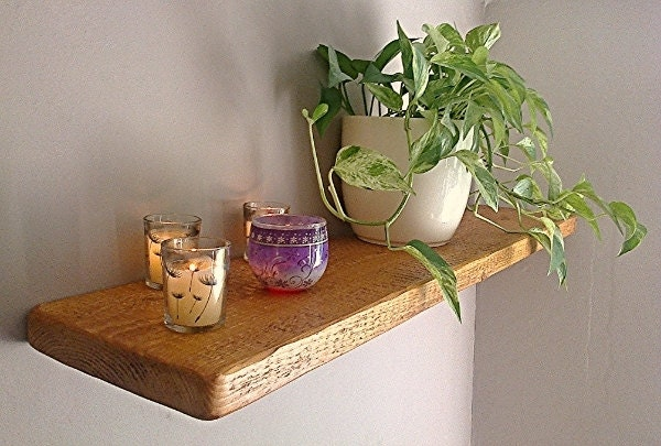 Rustic Pine Wood Floating Wall Shelf  Shelves  Antique Pine  1ft  6ft   FREE UK DELIVERY