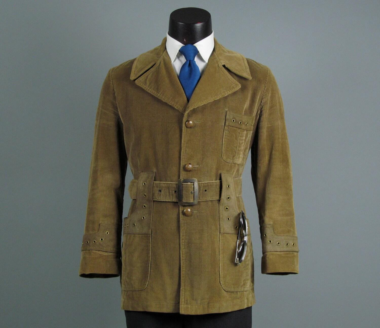Vintage Mens Sport Coat Jacket 1960s 1970s Mod By