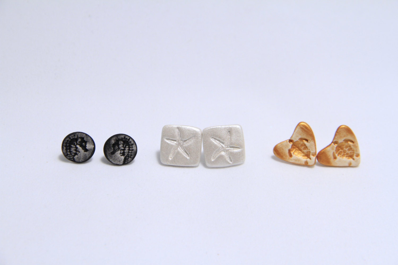 Neutral Assorted Earrings Sea Creatures - SandyArtesanias