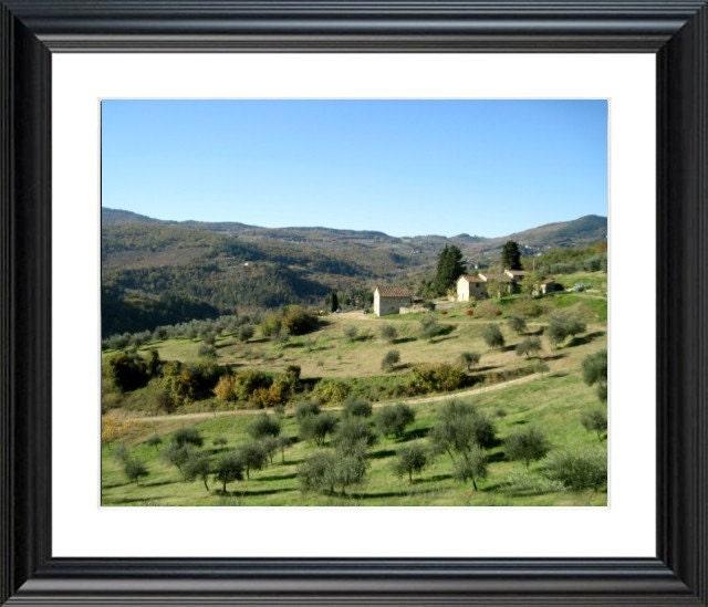 Tuscany  Scenic Landscape Photo, 20 x 16, Chianti Region of Tuscany, Italy,  Fine Art Photograph