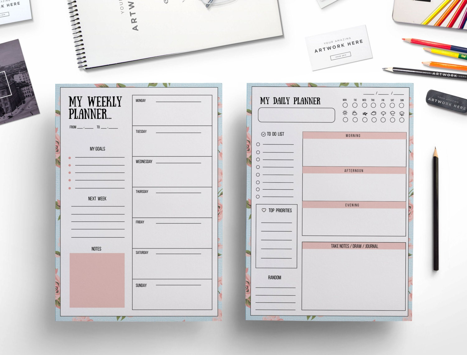 Creative Daily Timetable Template March 2017 Calendar – Planner Format