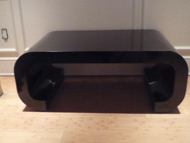 vintage scroll coffee table hollywood regency mid by