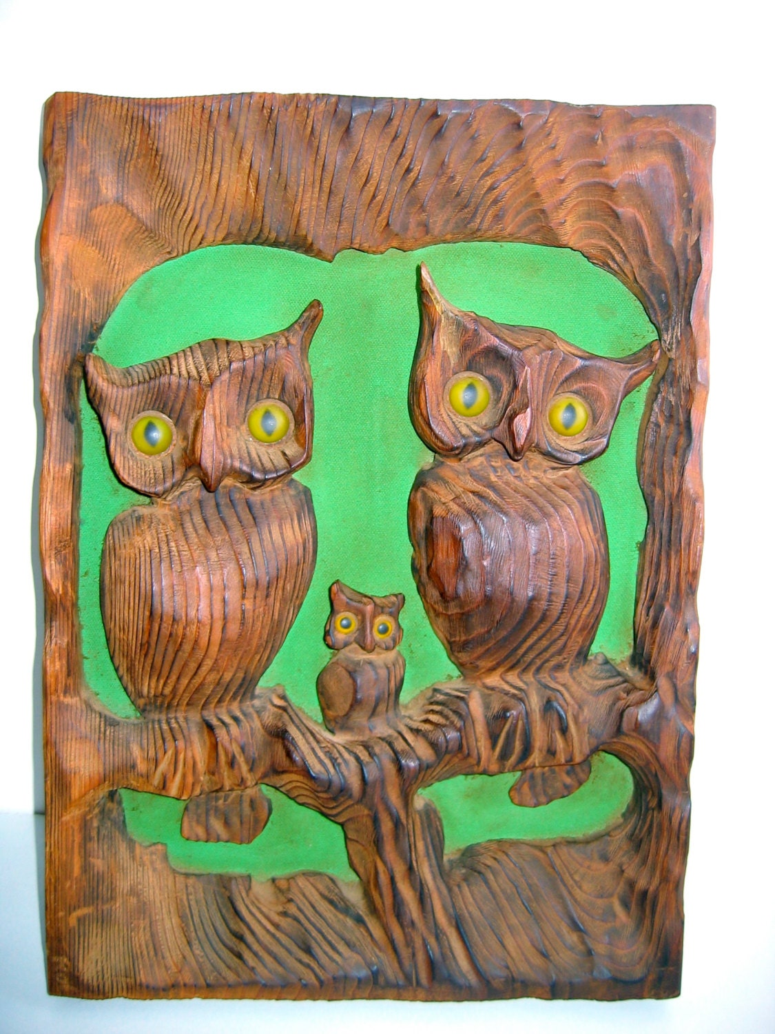 Vintage owl wall decor : S vintage owl wall decor wood plaque mod by