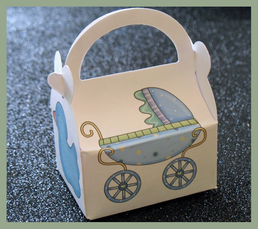 Baby Boy Gift Box : Baby boy shower favor box gift by