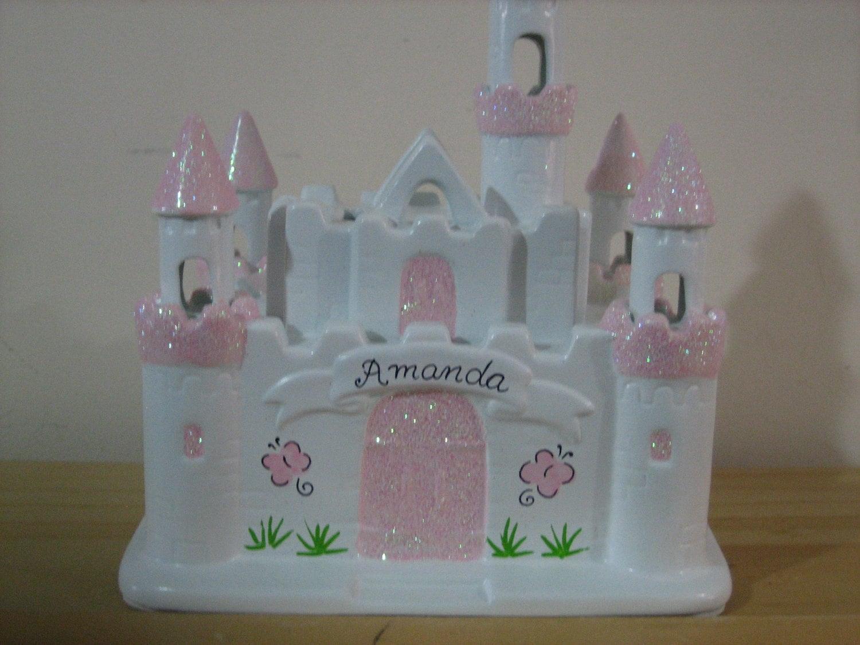 Personalized Disney Princess Castle Piggy By