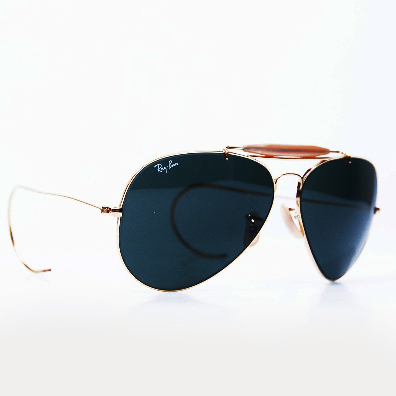 296dfc1662 Ray Ban Bausch   Lomb Leather Aviator