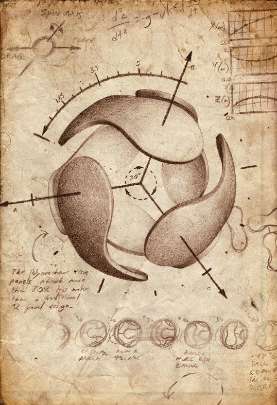 Da Vinci Teamgeist Football/Soccer Print