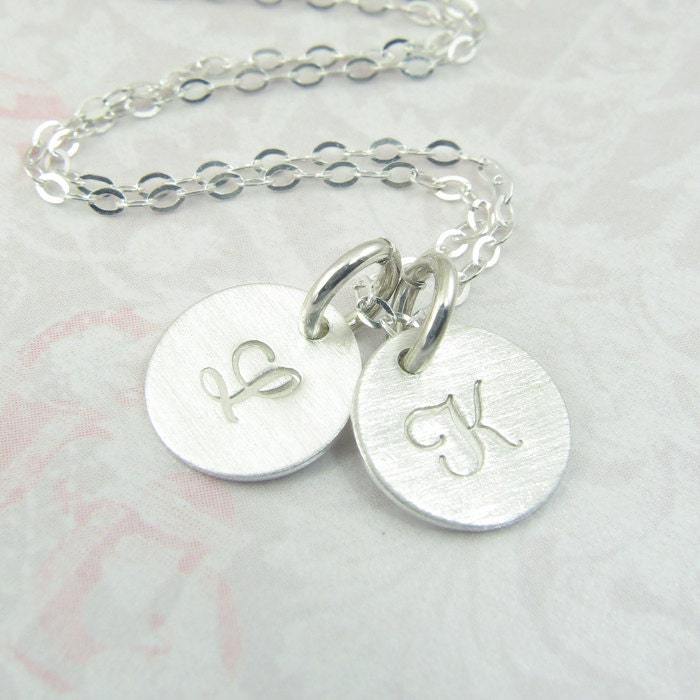 items similar to initial pendant circle necklace