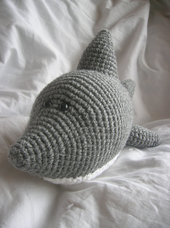 Free Amigurumi Shark Pattern : Sam the Shark Amigurumi Plush Crochet PATTERN by daveydreamer