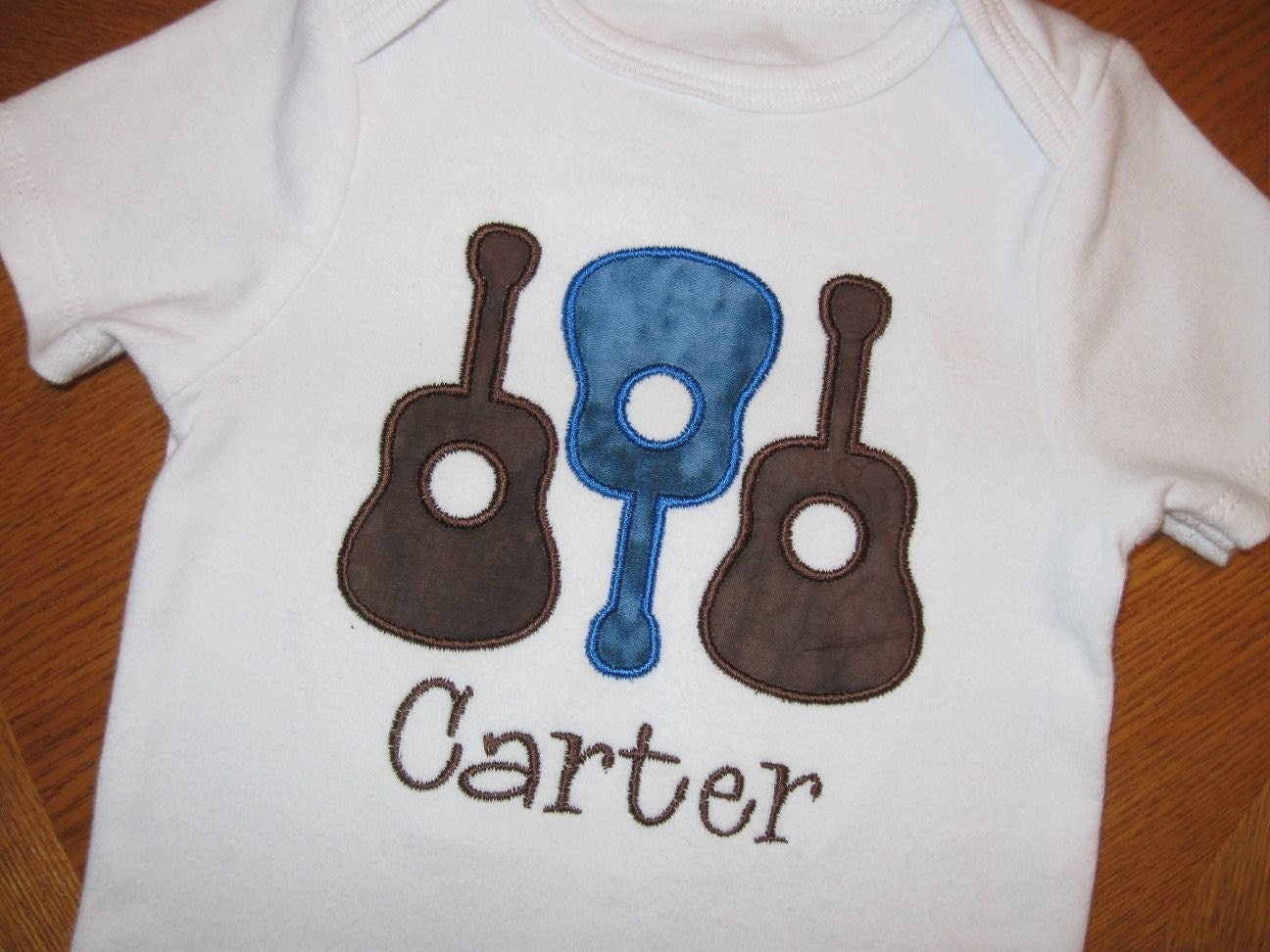 Guitars Shirt or Onesie - Personalized Embroidered Applique