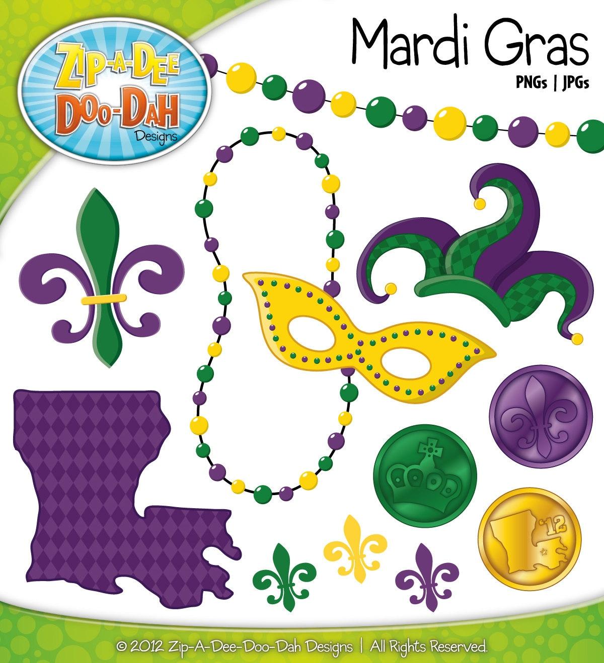 Mardi Gras Crown Clip Art Mardi gras clipart - includes