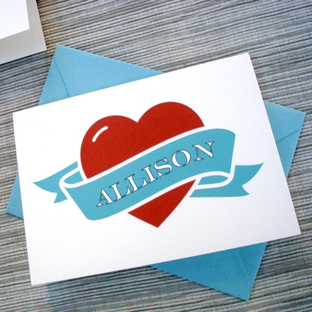 Custom Tattoo Heart Valentine's Day Card