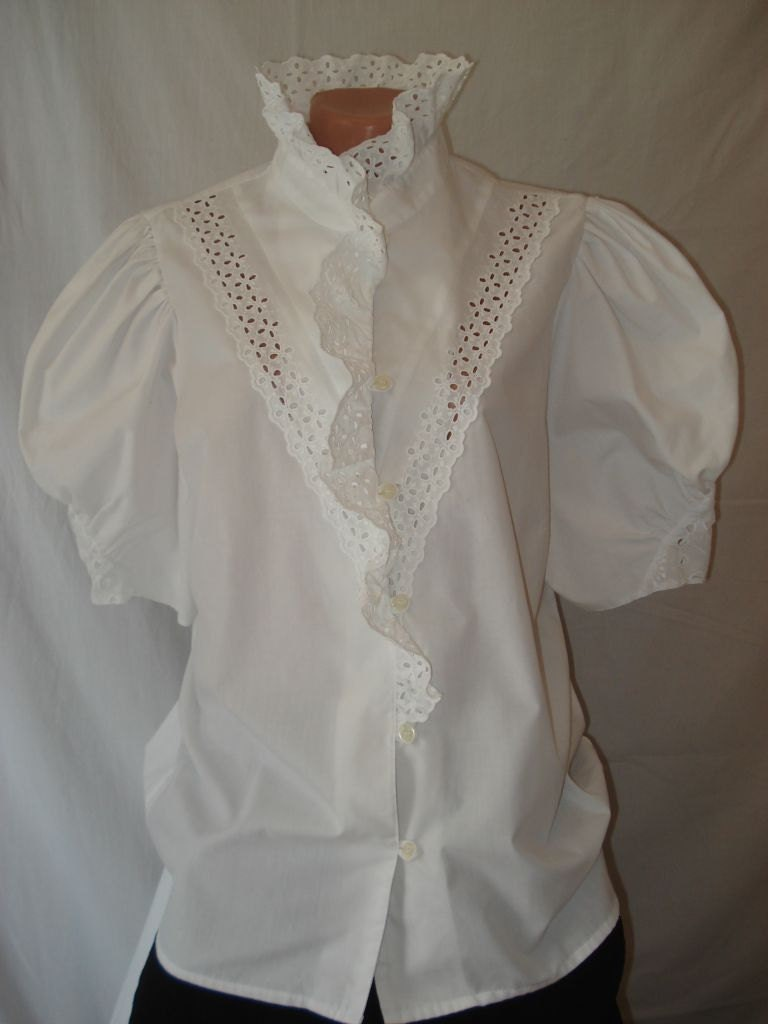 Romantic White Blouse 38