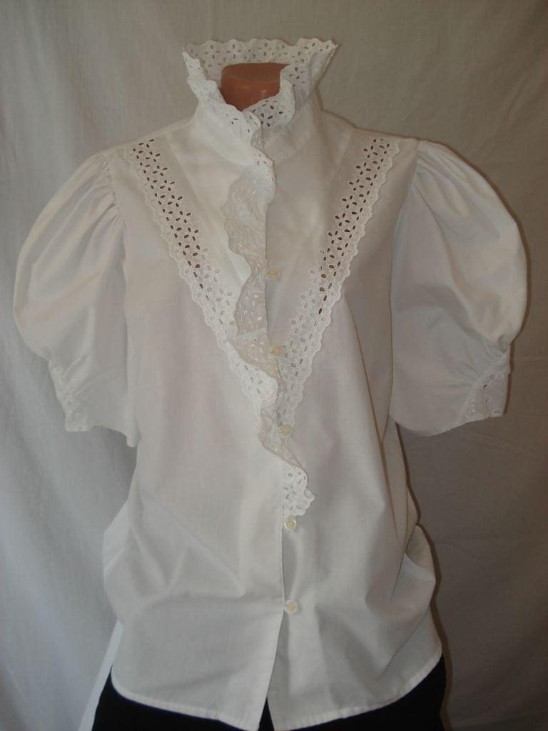 Romantic White Blouse 38