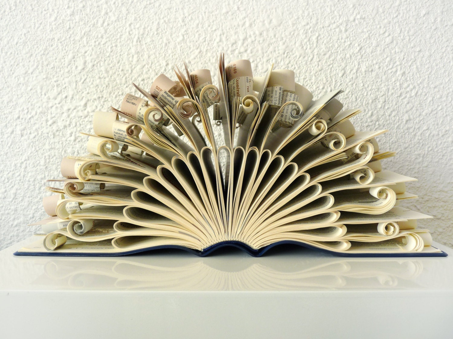 "Book Art Sculpture ""Peacock"""