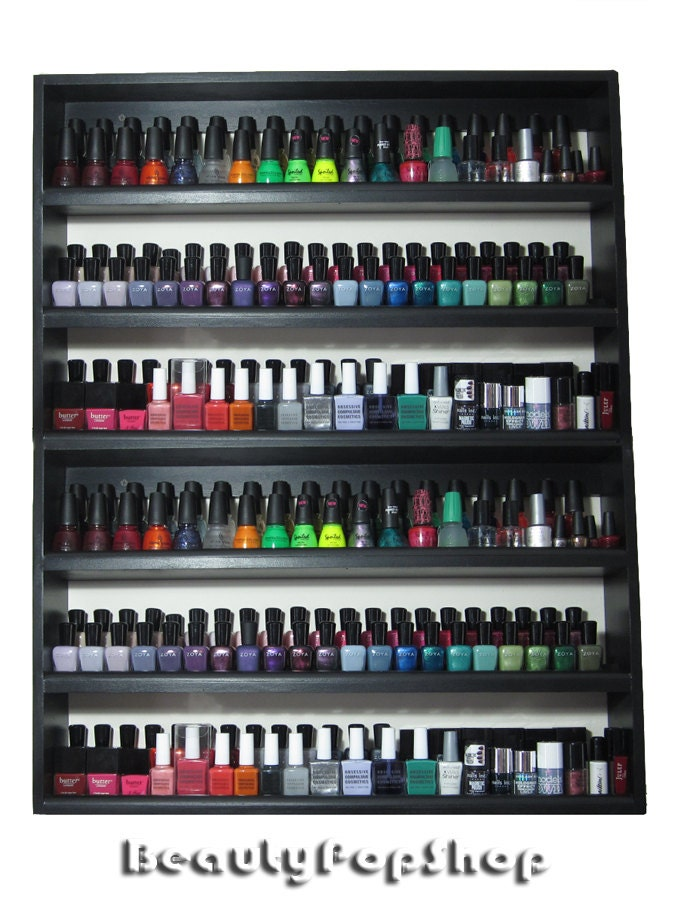"Super Large ""Super Stacked"" Nail Polish Rack in Pink, Black or White - Holds over 200 polishes"