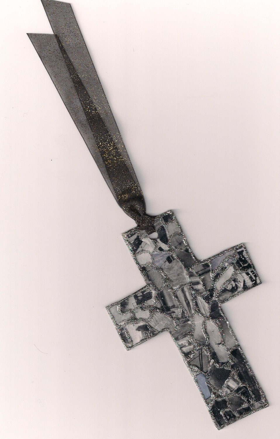 At The Cross in Black and Silver Bookmark
