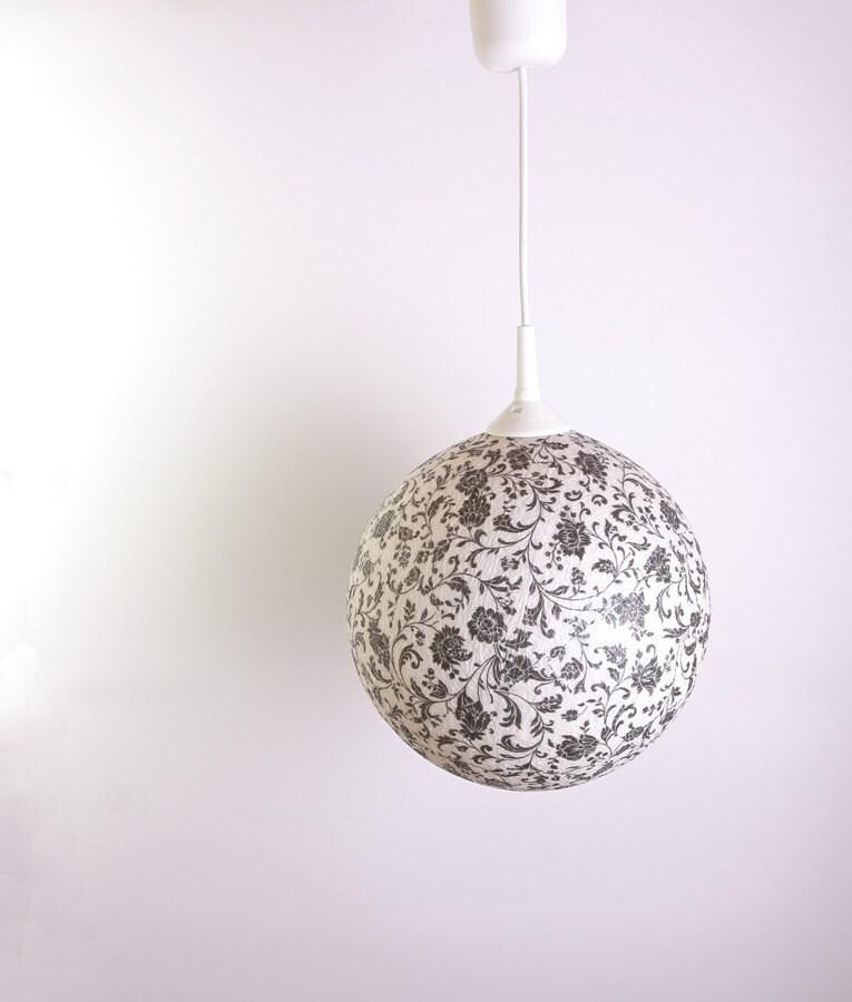 Ручная лампа, абажур, подвесные лампы, лампы акцент Черный Романтика, Современный дизайн интерьера акцент на FiligreeCreations на Etsy